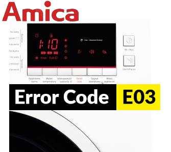 Chybové kódy na práčke Amica error code
