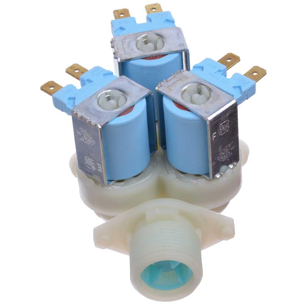 Prívodný ventil práčky trojcestný