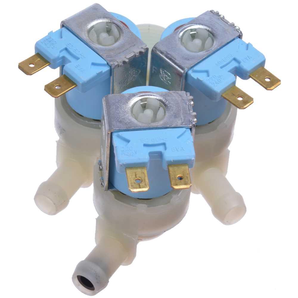 Prívodný ventil práčky trojcestný 1
